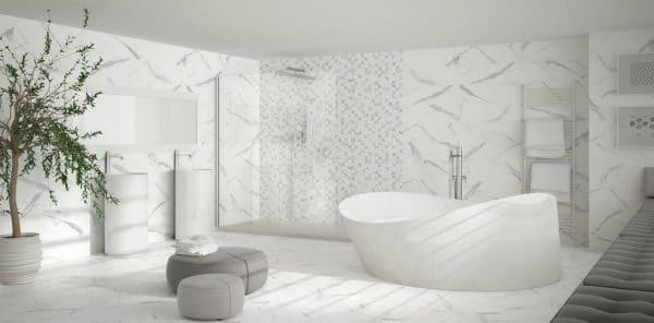 Obklady dlažby mozaiky - koupelna